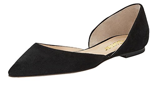 Guoar-Womens-Ballet-Flats-Big-Size-Sandals-Ladies-Shoes-Solid-Pointed-Toe-DOrsayTwo-Piece-Pumps-for-Wedding-Party-Dress-Black-US-14-0-0