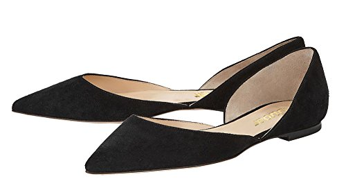 Guoar-Womens-Ballet-Flats-Big-Size-Sandals-Ladies-Shoes-Solid-Pointed-Toe-DOrsayTwo-Piece-Pumps-for-Wedding-Party-Dress-Black-US-14-0-3