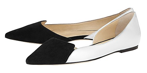 Guoar-Womens-Ballet-Flats-Big-Size-Sandals-Ladies-Shoes-Suede-Pointed-Toe-DOrsayTwo-Piece-Pumps-for-Wedding-Party-Dress-Grey-US-15-0-0