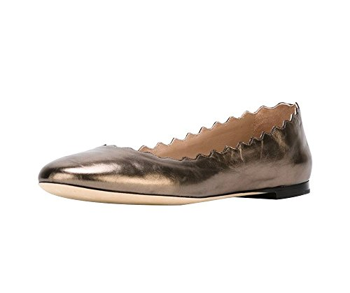 Guoar-Womens-Ballet-Flats-Big-Size-Special-Material-Sandals-Ladies-Shoes-Solid-Round-Toe-Scalloped-Edge-Pumps-Shoes-Bronze-US-12-0-0