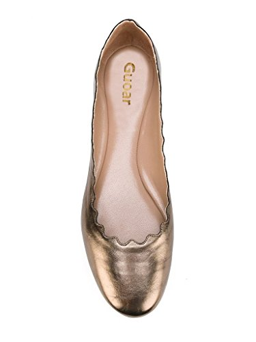 Guoar-Womens-Ballet-Flats-Big-Size-Special-Material-Sandals-Ladies-Shoes-Solid-Round-Toe-Scalloped-Edge-Pumps-Shoes-Bronze-US-12-0-1