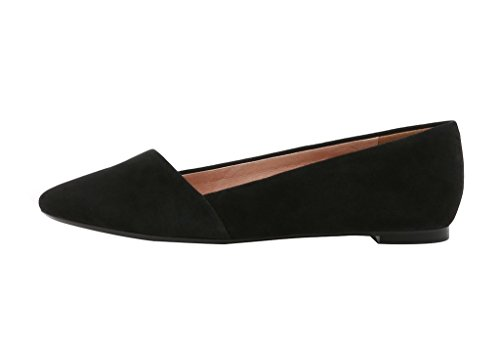 Guoar-Womens-Casual-Ballet-Flats-Big-Size-Chic-Pointed-Toe-Suede-Pumps-Shoes-Sandals-for-Dressing-Work-Black-US-13-0