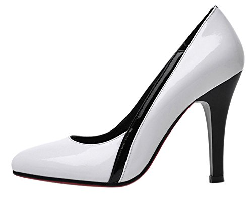 Guoar-Womens-High-Heel-Block-Big-Size-Solid-Shoes-Pointed-Toe-Patent-Pumps-for-Wedding-Party-Dress-White-US55-0