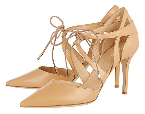 Guoar-Womens-High-Heel-Sandals-Big-Size-Solid-Shoes-Pointed-Toe-Dress-Lace-up-Pumps-for-Wedding-Party-Nude-US65-0-0