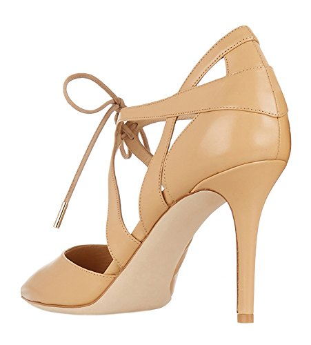 Guoar-Womens-High-Heel-Sandals-Big-Size-Solid-Shoes-Pointed-Toe-Dress-Lace-up-Pumps-for-Wedding-Party-Nude-US65-0-3