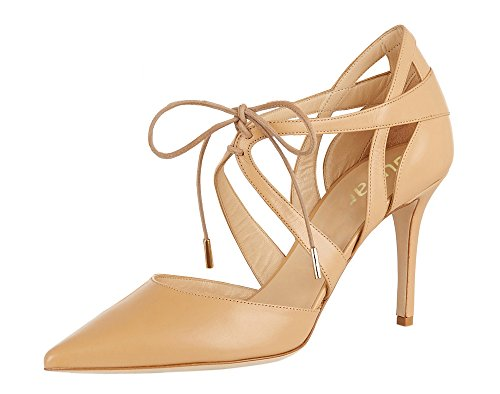 Guoar-Womens-High-Heel-Sandals-Big-Size-Solid-Shoes-Pointed-Toe-Dress-Lace-up-Pumps-for-Wedding-Party-Nude-US65-0-4