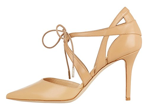 Guoar-Womens-High-Heel-Sandals-Big-Size-Solid-Shoes-Pointed-Toe-Dress-Lace-up-Pumps-for-Wedding-Party-Nude-US65-0