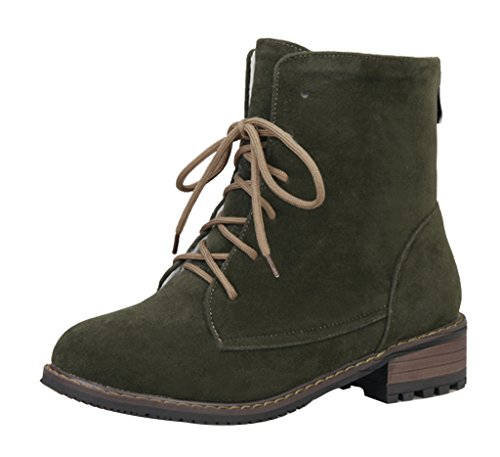 Guoar-Womens-Low-Mid-Heel-Flats-Shoes-Bootie-Big-Size-Lace-Up-Round-Toe-Zip-Ankle-Boots-for-Wedding-Party-Dress-Green-US65-0