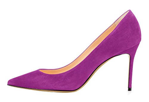 Guoar-Womens-Pointed-Toe-High-Heel-Shoes-Stiletto-Comfort-Suede-Pumps-Dress-Shoes-size-5-12-Violet-US-12-0-0