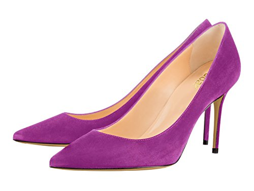 Guoar-Womens-Pointed-Toe-High-Heel-Shoes-Stiletto-Comfort-Suede-Pumps-Dress-Shoes-size-5-12-Violet-US-12-0-1