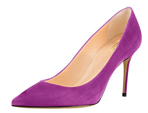 Guoar-Womens-Pointed-Toe-High-Heel-Shoes-Stiletto-Comfort-Suede-Pumps-Dress-Shoes-size-5-12-Violet-US-12-0