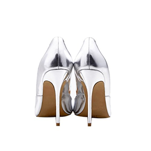 Guoar-Womens-Pointed-Toe-High-Heel-Shoes-Stiletto-Pumps-V-Cut-Dress-Shoes-size-5-12-Silver-US-11-0-1