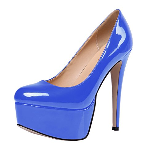 Guoar-Womens-Solid-Shoes-High-Heel-Big-Size-with-Platform-Patent-Pumps-for-Wedding-Party-Dress-Blue-US65-0-2