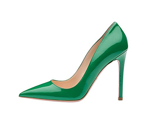 Guoar-Womens-Stiletto-Big-Size-Shoes-Pointed-Toe-Ladies-Solid-Pumps-for-Work-Prom-Dress-Party-Green-US75-0