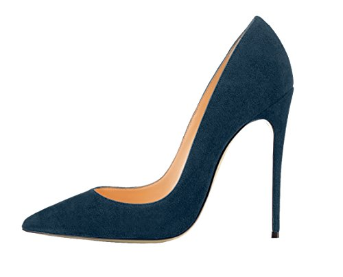 Guoar-Womens-Stiletto-Big-Size-Shoes-Pointed-Toe-Patent-Ladies-Solid-Pumps-for-Work-Place-Dress-Party-Army-Green-Suede-US105-0