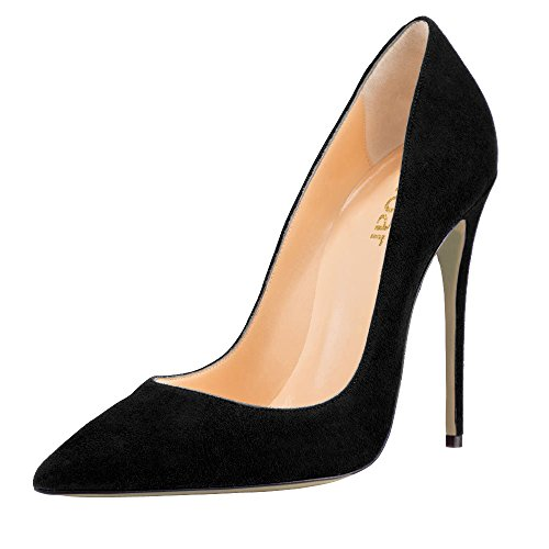 Guoar-Womens-Stiletto-Big-Size-Shoes-Pointed-Toe-Patent-Ladies-Solid-Pumps-for-Work-Place-Dress-Party-Black-Suede-US65-0-0