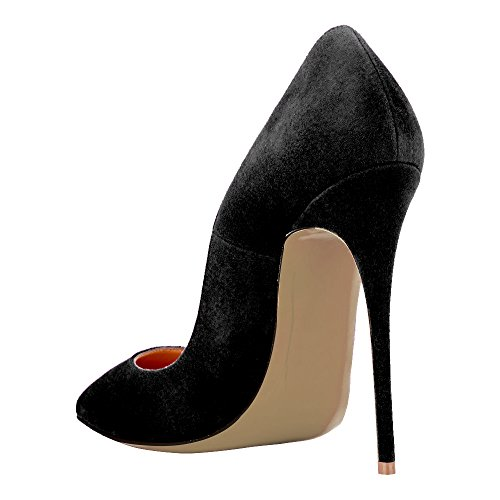 Guoar-Womens-Stiletto-Big-Size-Shoes-Pointed-Toe-Patent-Ladies-Solid-Pumps-for-Work-Place-Dress-Party-Black-Suede-US65-0-2