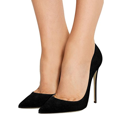 Guoar-Womens-Stiletto-Big-Size-Shoes-Pointed-Toe-Patent-Ladies-Solid-Pumps-for-Work-Place-Dress-Party-Black-Suede-US65-0-3
