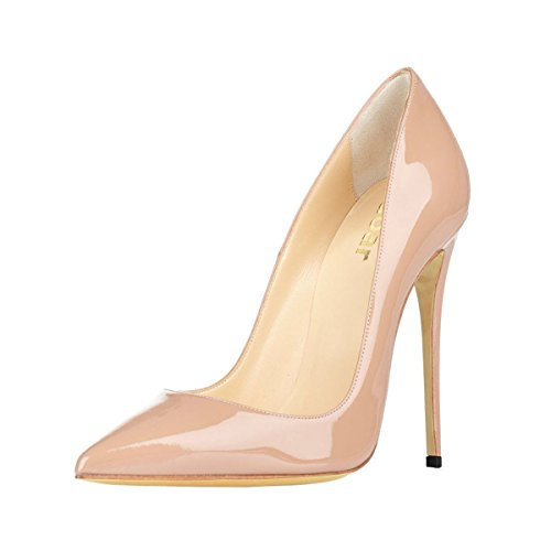 Guoar-Womens-Stiletto-Big-Size-Shoes-Pointed-Toe-Patent-Ladies-Solid-Pumps-for-Work-Place-Dress-Party-Nude-US75-0-0