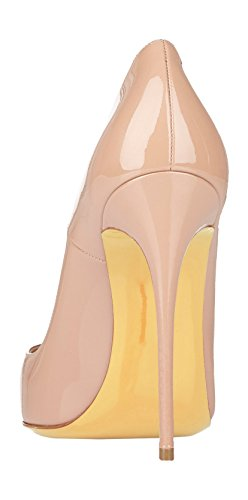 Guoar-Womens-Stiletto-Big-Size-Shoes-Pointed-Toe-Patent-Ladies-Solid-Pumps-for-Work-Place-Dress-Party-Nude-US75-0-1