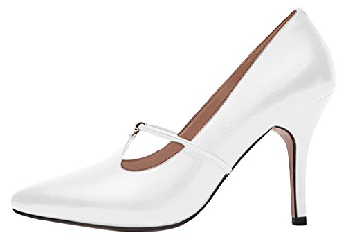 Guoar-Womens-Stiletto-Heel-Sandals-Big-Size-Solid-Shoes-Pointed-Toe-T-Strap-Pumps-for-Wedding-Party-Dress-White-US55-0