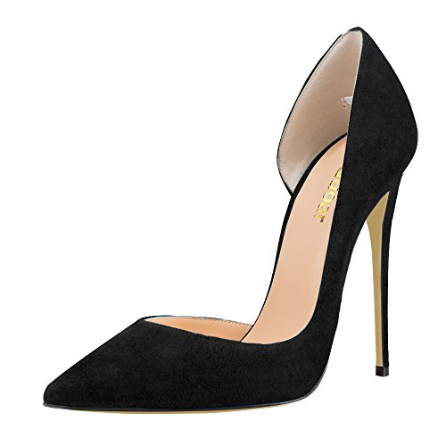 Guoar-Womens-Stiletto-Heels-Sandals-Big-Size-Solid-Shoes-Pointed-Toe-DOrsayTwo-Piece-Pumps-for-Wedding-Party-Dress-Black-US65-0-0