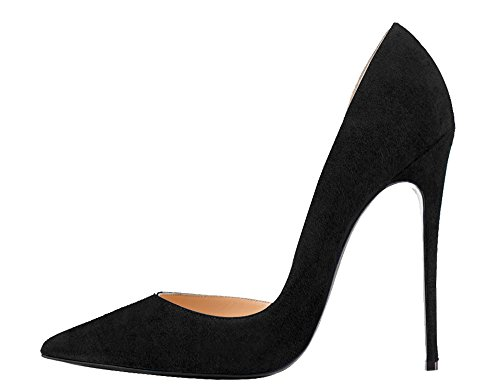 Guoar-Womens-Stiletto-Heels-Sandals-Big-Size-Solid-Shoes-Pointed-Toe-DOrsayTwo-Piece-Pumps-for-Wedding-Party-Dress-Black-US65-0