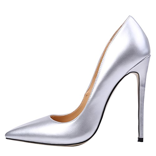 Guoar-Womens-Stiletto-Heels-Sandals-Big-Size-Solid-Shoes-Pointed-Toe-Patent-Pumps-for-Wedding-Party-Dress-Silver-US75-0