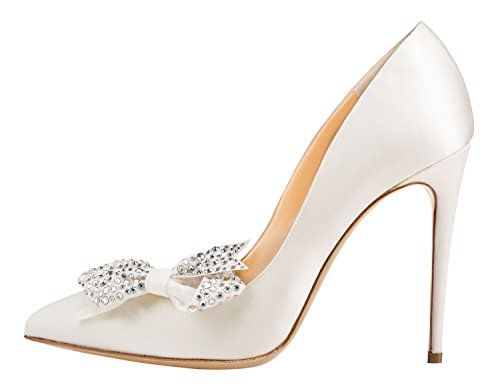 Guoar-Womens-Stiletto-Pointed-Toe-High-Heels-Pumps-Bowknot-Dress-Prom-Shoes-size-5-12-US-White-PU-US-65-0-0