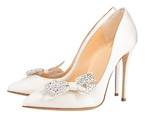 Guoar-Womens-Stiletto-Pointed-Toe-High-Heels-Pumps-Bowknot-Dress-Prom-Shoes-size-5-12-US-White-PU-US-65-0-1