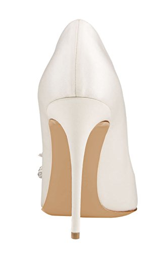 Guoar-Womens-Stiletto-Pointed-Toe-High-Heels-Pumps-Bowknot-Dress-Prom-Shoes-size-5-12-US-White-PU-US-65-0-2