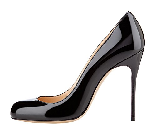 Guoar-Womens-Stiletto-Round-Toe-High-Heels-Pumps-Prom-Party-Dress-Shoes-size-5-12-US-Black-US-9-0-0