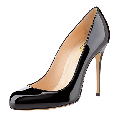 Guoar-Womens-Stiletto-Round-Toe-High-Heels-Pumps-Prom-Party-Dress-Shoes-size-5-12-US-Black-US-9-0