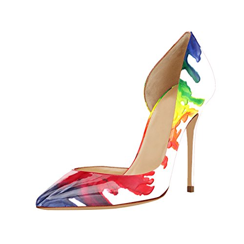Guoar-womens-Multicolor-Heat-girl-Pointed-Toe-High-Heels-Green-Patent-Pumps-Shoes-size-5-12-US-115-0-0
