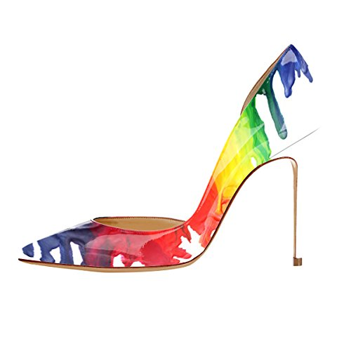 Guoar-womens-Multicolor-Heat-girl-Pointed-Toe-High-Heels-Green-Patent-Pumps-Shoes-size-5-12-US-115-0