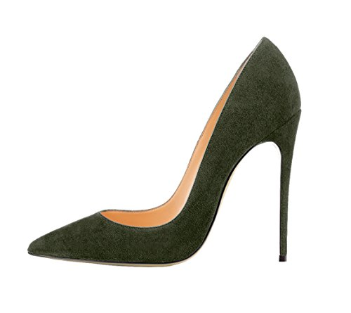 Guoar-womens-Pointed-Toe-High-Heels-Army-Green-Suede-Pumps-Shoes-for-Party-Banquet-Shoes-size-5-12-US-7-0