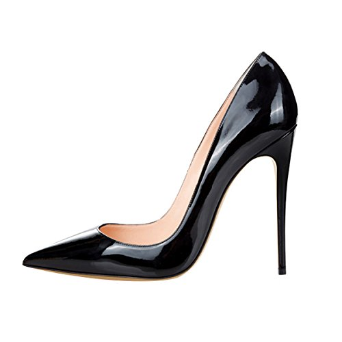 Guoar-womens-Pointed-Toe-High-Heels-Black-Patent-leather-Pumps-Shoes-for-Party-Banquet-Shoes-size-5-12-US-11-0