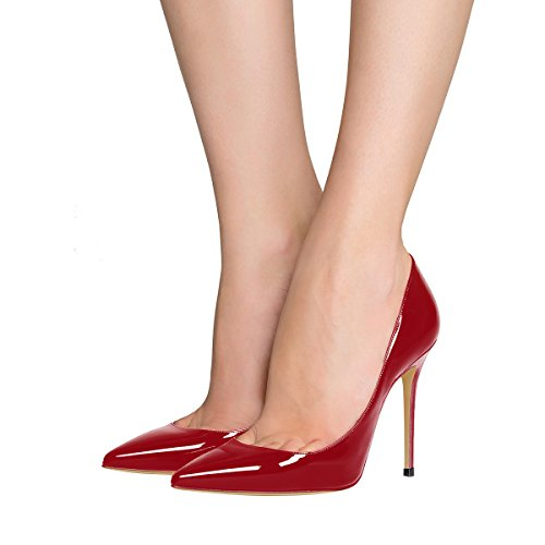 Guoar-womens-Pointed-toe-Shallow-Mouth-10CM-Stiletto-high-heel-Crimson-pumps-Size-4-12-US-45-0-2
