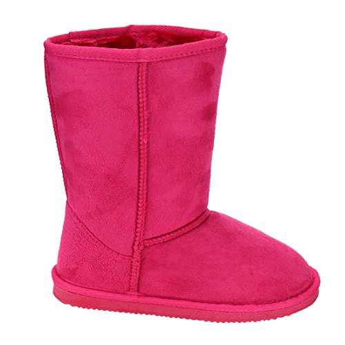 LINK-GE49-Girls-Mid-Calf-Pull-On-Style-Winter-Snow-Boots-ColorFUCHSIA-Size3-M-US-Little-Kid-0-0