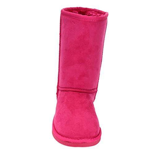 LINK-GE49-Girls-Mid-Calf-Pull-On-Style-Winter-Snow-Boots-ColorFUCHSIA-Size3-M-US-Little-Kid-0-1