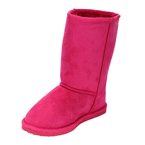 LINK-GE49-Girls-Mid-Calf-Pull-On-Style-Winter-Snow-Boots-ColorFUCHSIA-Size3-M-US-Little-Kid-0-2