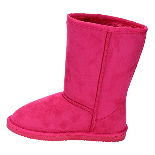 LINK-GE49-Girls-Mid-Calf-Pull-On-Style-Winter-Snow-Boots-ColorFUCHSIA-Size3-M-US-Little-Kid-0-3