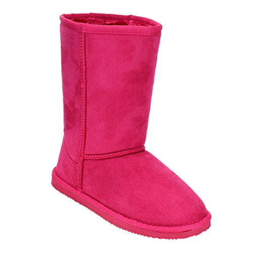 LINK-GE49-Girls-Mid-Calf-Pull-On-Style-Winter-Snow-Boots-ColorFUCHSIA-Size3-M-US-Little-Kid-0