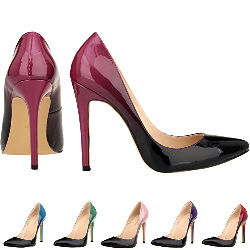 LOSLANDIFEN-Womens-Pionted-Toe-Double-Color-Pumps-Slender-Leather-Stiletto-High-Heels-Wedding-Shoes-0