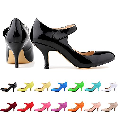 Loslandifen-Ladies-Mary-Jane-Mid-Heels-Casual-Ankle-Strap-Work-Pump-Shoes-0