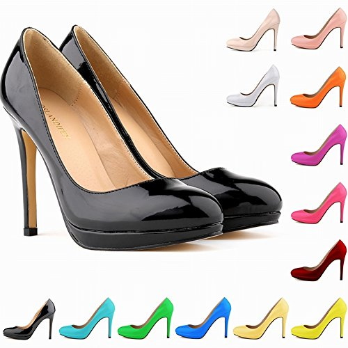Loslandifen-Womens-High-Heels-Party-Platform-Pumps-Court-Patent-Shoes-0