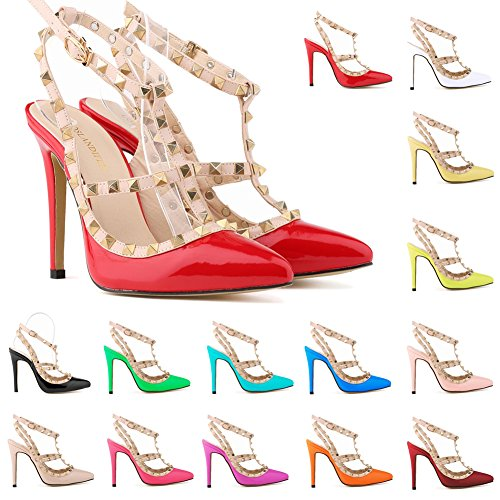 Loslandifen-Womens-Stiletto-High-Heels-Rivet-Ankle-Strap-Pumps-0