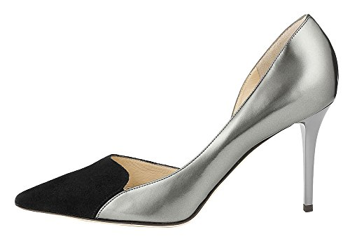 MONICOCO-Womens-High-Heel-Plus-Size-Shoes-Pointed-Toe-Cap-Toe-Patchwork-Dress-Pump-Silver-6-BM-US-0
