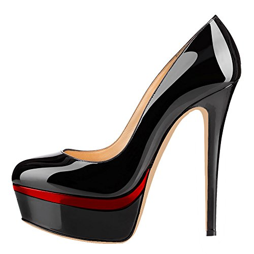 MONICOCO-Womens-High-Heel-Shoes-Party-Pumps-with-Platform-BlackRed-Patent-13-US-0
