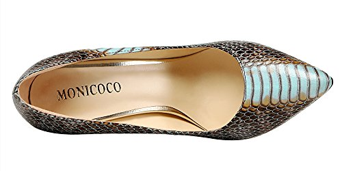 MONICOCO-Womens-Pointed-Toe-Snake-Print-Party-Pump-Shoes-Blue-11-M-US-0-3